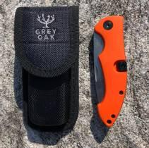 Foldekniv m/bukåpner Oransje
